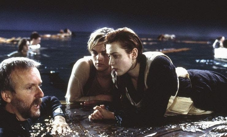 Kate Winslet, Leo DiCaprio and James Cameron